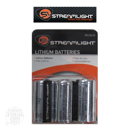 1 - Streamlight CR123A 3v Lithium 6 Pack