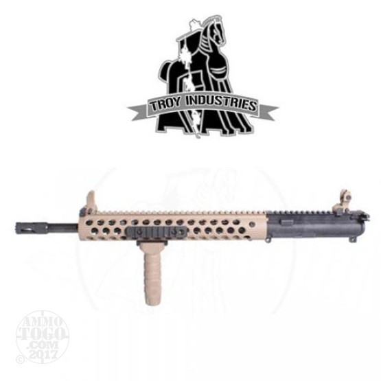 "1 - Troy 5.56mm 16"" CQB-SPC Complete AR-15 Upper Receiver FDE 1-7 Twist"
