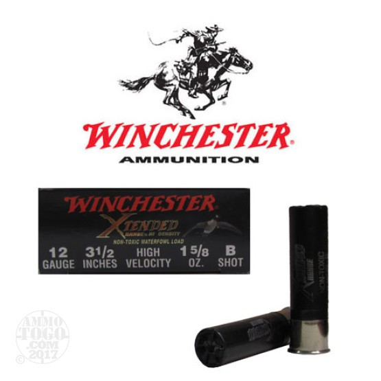 "100rds - 12 Ga. Winchester Supreme Elite 3 1/2"" 1 5/8oz #B Steel Shot"