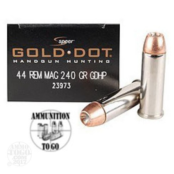 20rds - 44 Mag Speer Gold Dot 240gr. Hollow Point Ammo