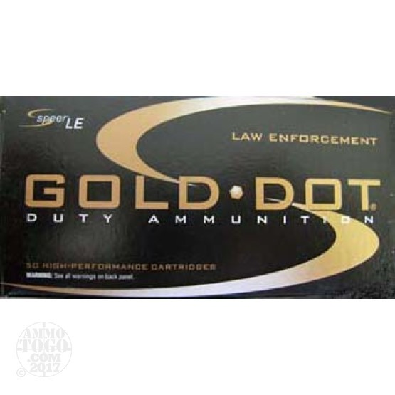 50rds - 45 ACP Speer LE Gold Dot 185gr. HP Ammo