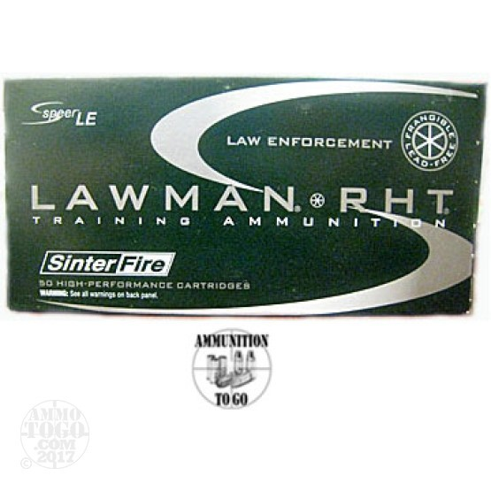 50rds - 9mm Speer Lawman 100gr. RHT Frangible Ammo