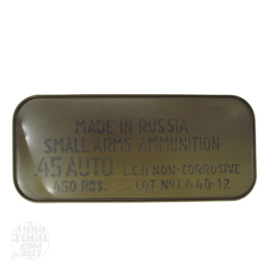 450rds - 45 ACP Tula 230gr. FMJ Ammo in Spam Can