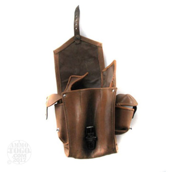 1 - Tan Leather AK-47 Magazine Pouch - Used Condition