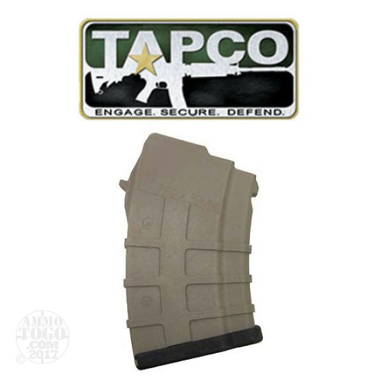 1 - AK-47 TAPCO 5rd. Dark Earth Polymer Magazine