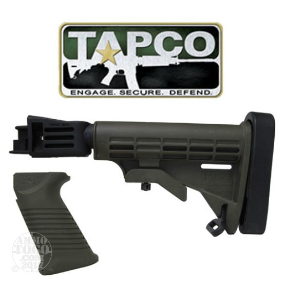 1 - TAPCO Saiga T6 Collapsible Stock Olive Drab