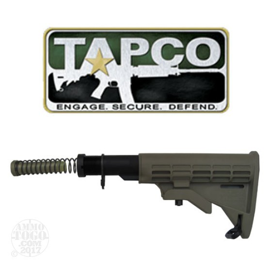 1 - TAPCO AR-15 / M4 / M16 Complete T6 Collapsible Stock Dark Earth
