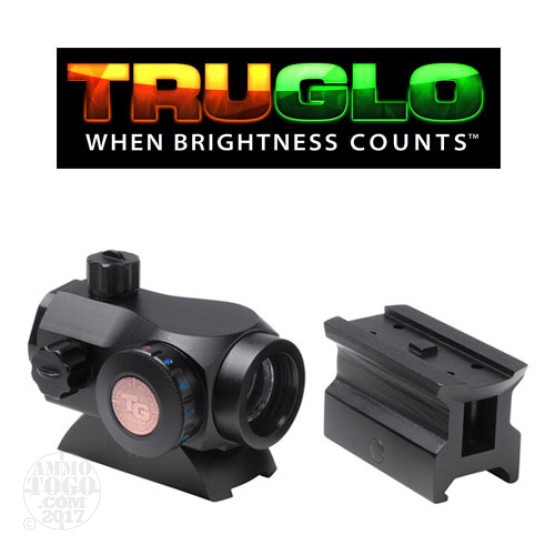 1 - TruGlo Triton 20mm Red-Dot Optic Sight w/High and Low Base