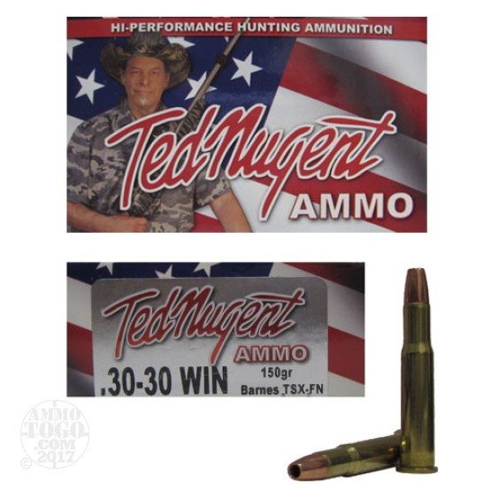 20rds - 30-30 Win. Ted Nugent 150gr. TSX FN Ammo