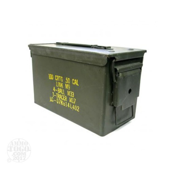 4 - USGI 50cal. Ammo Cans - Good Condition w/ Dessicant