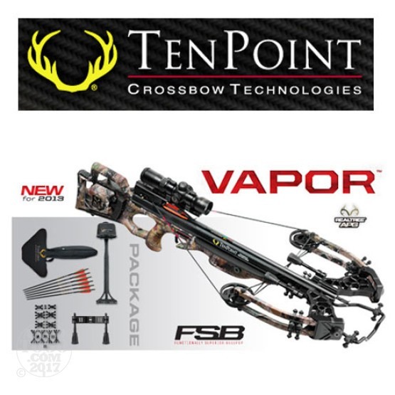 1 - TenPoint Vapor Package with Rangemaster, Frame-Mounted ACUdraw 50 Rope Cocker with Free Shipping