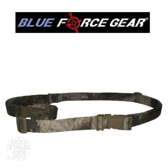 1 - Blue Force Gear Vickers Combat Applications 2 Point Sling A-TACS Camo Metal