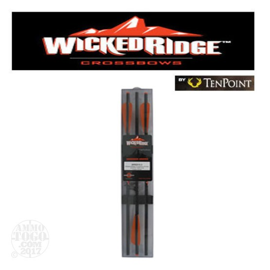 "1 - TenPoint Wicked Ridge 20"" Crossbow Arrows with 5086 Alloy Shaft 3 Pack"