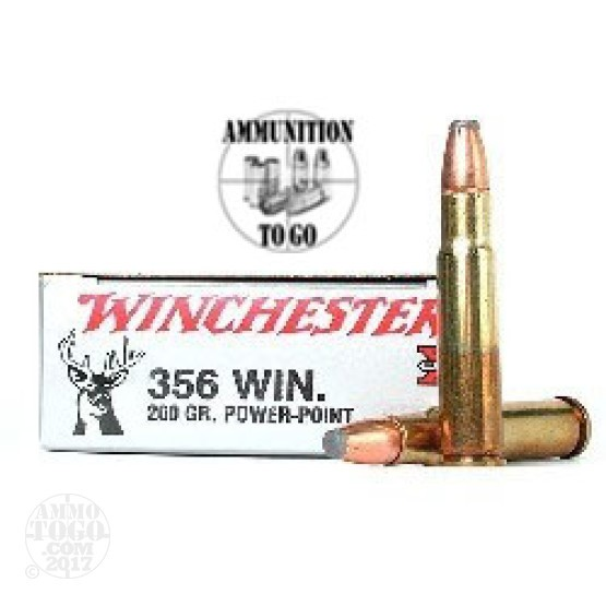 20rds - 356 Winchester 200gr Super-X Power Point Ammo