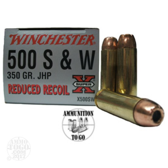 20rds - 500 S&W Winchester Super-X 350gr. Jacketed Hollow Point