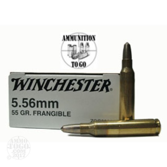 200rds - 5.56 Winchester 55gr Frangible Ammo