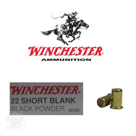50rds - 22 Short Winchester Black Powder Blanks