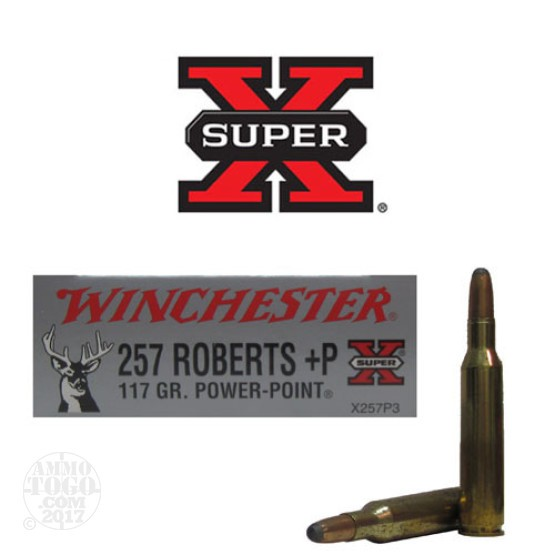 20rds - 257 Roberts Winchester 117gr. +P Power Point Ammo
