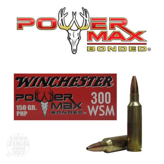 20rds - 300 WSM Winchester 150gr. Power Max Bonded PHP Ammo