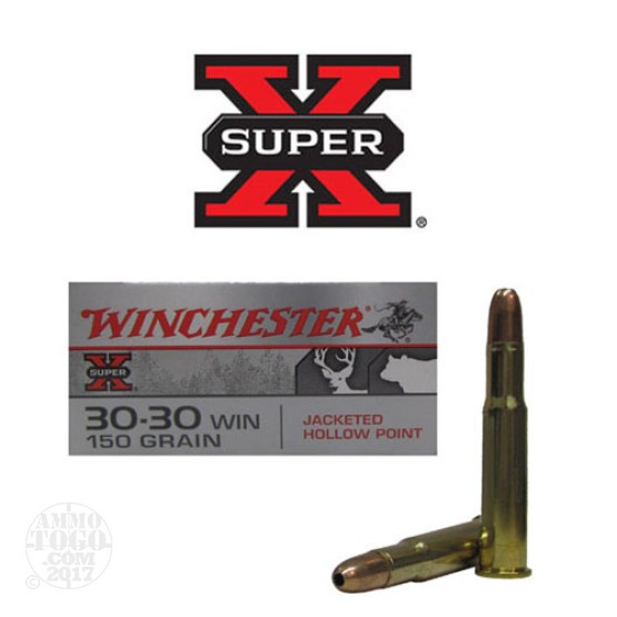 20rds - 30-30 Winchester Super-X 150gr. Hollow Point Ammo
