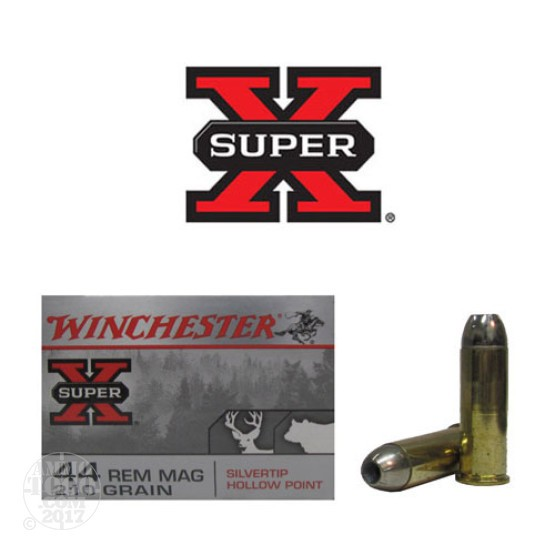 20rds - 44 Mag Winchester 210gr. Silver Tip HP Ammo