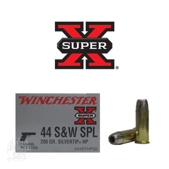 20rds - 44 Special Winchester 200gr. Silver Tip HP Ammo