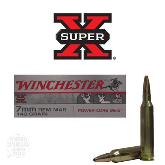 20rds - 7mm Rem. Mag Winchester Super-X 140gr. Power Core 95/5 Ammo