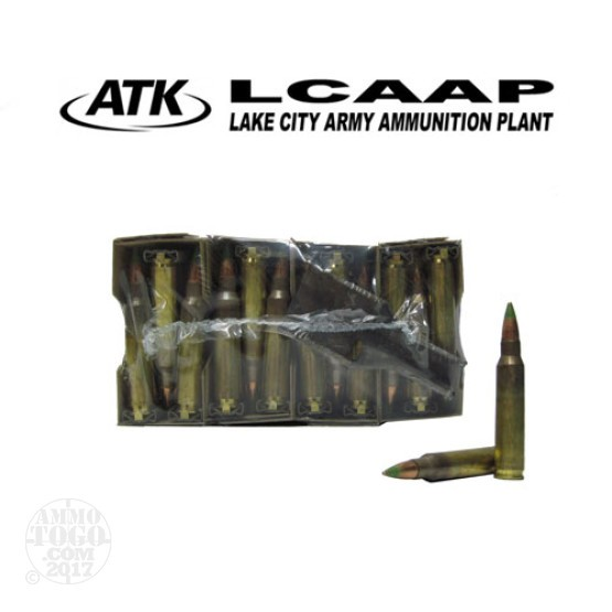 120rds - 5.56 Federal Lake City XM855 62gr. FMJ Penetrator Ammo on Strippers