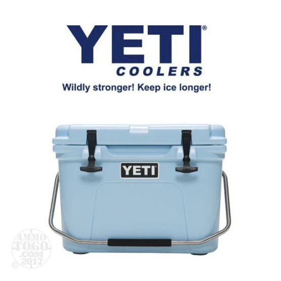 1- Yeti Roadie 20 Quart Ice Blue Cooler