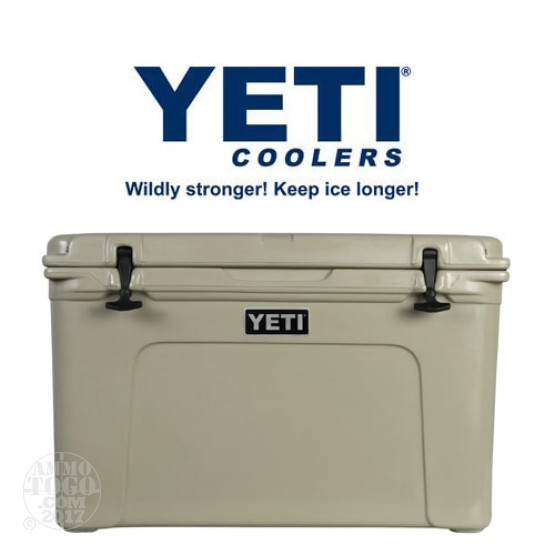1- Yeti Tundra 105 Quart Tan Cooler