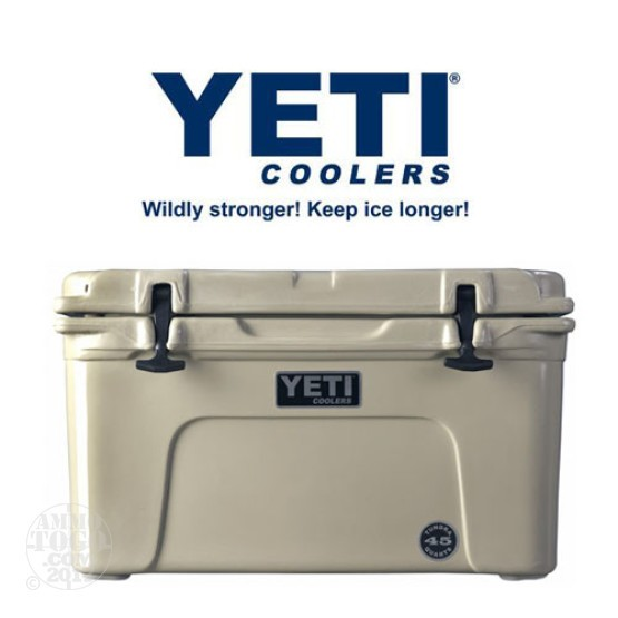 1- Yeti Tundra 45 Quart Tan Cooler