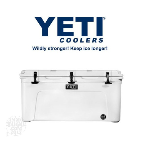 1- Yeti Tundra 85 Quart White Cooler