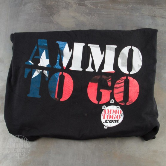 1 - Black T-Sleeve Shirt (2X-Large) With Texas Flag In Ammo To Go Logo