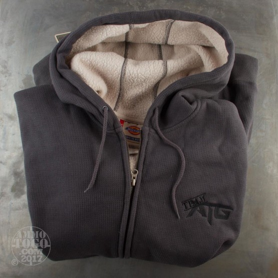 1 - Grey Ammo To Go w/ Team ATG Logo Dickies Hooded Sweatshirt (3XL)