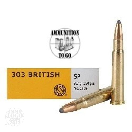 200rds - 303 British Sellier & Bellot 150gr. Soft Point Ammo