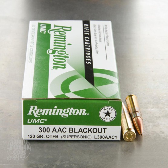 20rds - 300 AAC Blackout Remington UMC 120gr. OTM Ammo