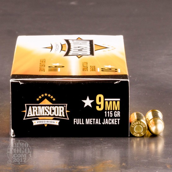 1000rds - 9mm Armscor 115gr. FMJ Ammo