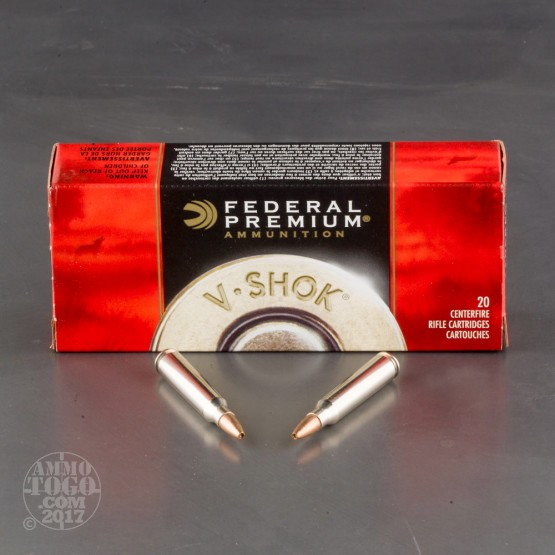 200rds - 223 Federal Premium 43gr. Speer TNT Green Ammo