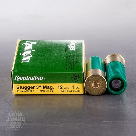 "250rds - 12 Gauge Remington Slugger 3""  1oz. Magnum Rifled Slug Ammo"