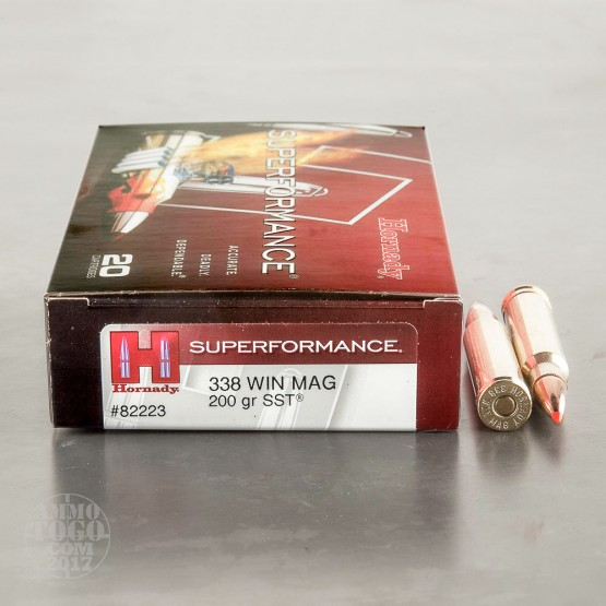 20rds - 338 Win Mag Hornady Superformance 200gr. SST Polymer Tip Ammo