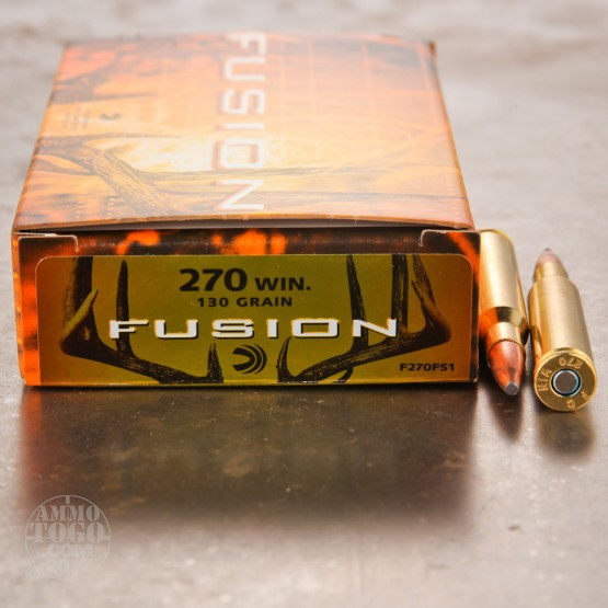 20rds - .270 Federal Fusion 130gr. SP Ammo