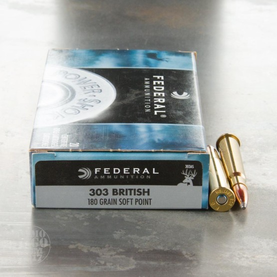 20rds - 303 British Federal 180gr. Power-Shok SP Ammo