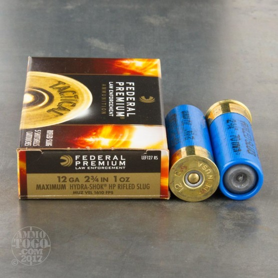 250rds - 12 Gauge Federal LE Tactical Full Power Hydra-Shok Slug