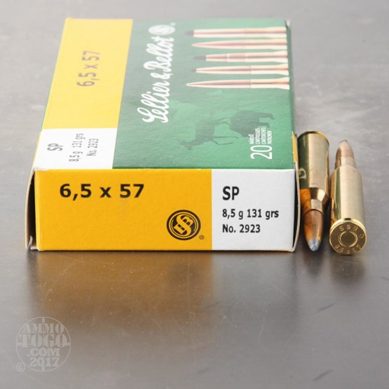20rds - 6.5x57 Mauser Sellier and Bellot 131gr. SP Ammo