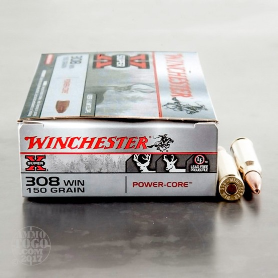 200rds - 308 Winchester Super X Power Core 150gr. LF HP Ammo