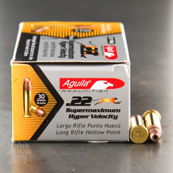 500rds - 22LR Aguila Super Max 30gr. Hyper Velocity Hollow Point Ammo