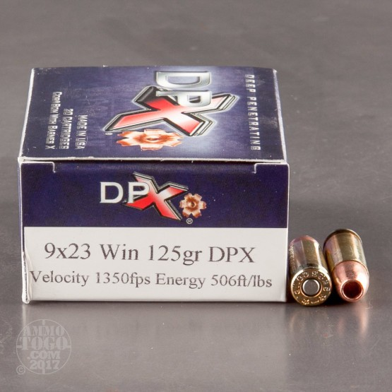 20rds - 9x23 Win. Corbon 125gr. DPX Hollow Point Ammo