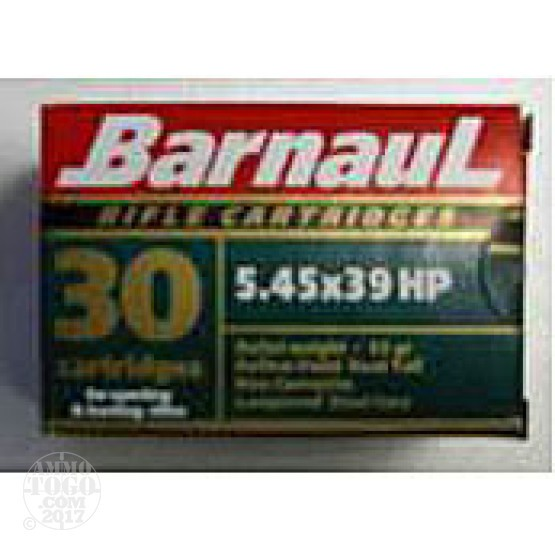 120rds - 5.45x39 Barnaul 55gr. Hollow Point Ammo