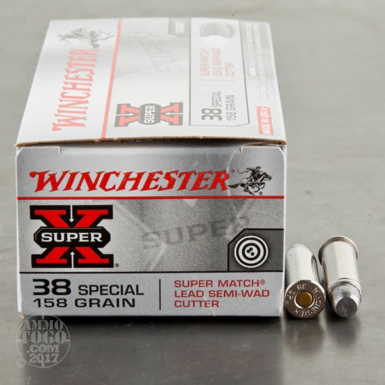 50rds – 38 Special Winchester Super-X 158gr. LSWC Ammo