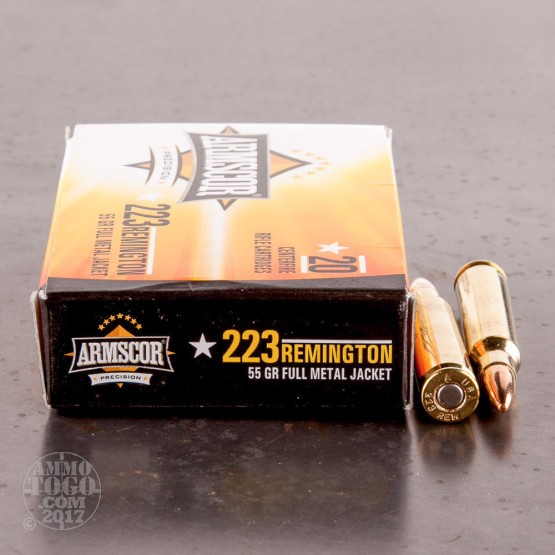 20ds – 223 Armscor Precision 55gr. FMJ Ammo
